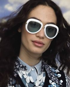 White frames are chic againand happen to look especially groovy with the other big trend of the season: graphic retro florals. Click the link in our bio for our favorite ways to wear Spring's two biggest trends. Featuring @sophie_koella Directed by @thisismayan Styled by @jordenbickham Hair by @adlena Makeup by @stojb  via VOGUE MAGAZINE OFFICIAL INSTAGRAM - Fashion Campaigns  Haute Couture  Advertising  Editorial Photography  Magazine Cover Designs  Supermodels  Runway Models
