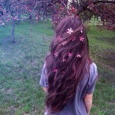 Hair/flowers