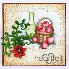 Heartfelt Creations   Red Apples Harvest