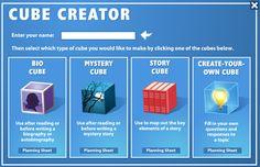 AYUDA PARA MAESTROS: Cube Creator - Para crear pequeñas historias dentro de un cubo.