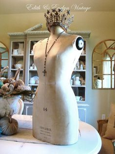 Antique STOCKMAN PARIS Mannequin Dress Form by edithandevelyn, $575.00