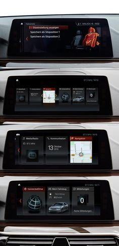 BMW Series5 2017 Central Display UX / UI Design