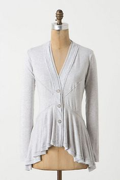 Dawes Cardigan (by Anthropologie.  Wondering how I could do that kind of waist seaming myself, however.)