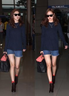 Korean actress Gong Hyo-jin (공효진) at airport. Korean Celebrities, Celebs, Pop Fashion, Autumn Fashion, Gong Hyo Jin, Celebrity Look, Korean Actresses, Dress Codes, Korean Fashion