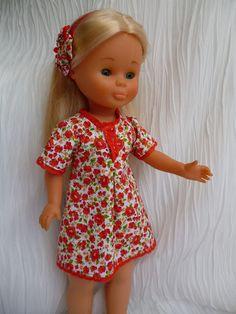 ANILEGRA COSE PARA NANCY: PRIMAVERA EN ROJO, modelo low cost para NANCY Girl Doll Clothes, Girl Dolls, Baby Dolls, Nancy Doll, Clothing Patterns, American Girl, Crochet, Kids, Girls Bedroom