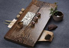 Extra-large size Wenge tea tray displaying and by Chinateaware