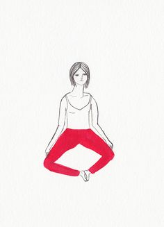 yoga girl by kaye blegvad