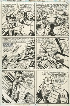 Machine Man #5 (1978) p10 Jack Kirby, in Dino Mauricio's Marvel Splashes / Panels Comic Art Gallery Room