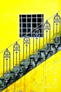 stair and window yellow