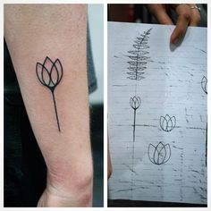 B brought in this cool geometric tulip design she came up with and I tattooed it for her. (at Strathcona Tattoo)