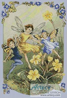 f877295b989 A dance of spring - Cross Stitch Chart   Artecy Cross Stitch Shop