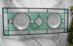 1930s Depression Glass Plate Stained Glass Panel by HeritageDishes