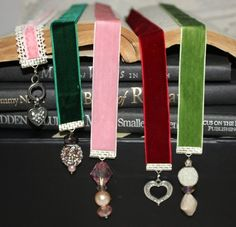 bookmarks ribbon, clamp, beads