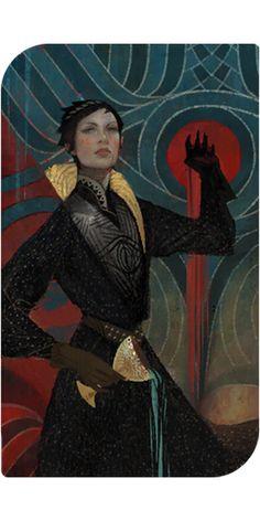 Dragon Age Inquisition - Cassandra romance tarot card