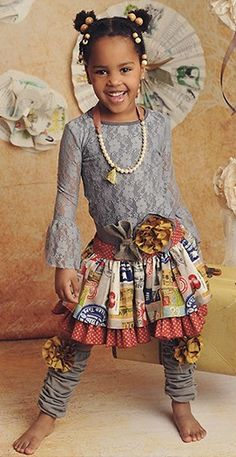 **LOVE** this entire outfit. How cute is this little girl?!?