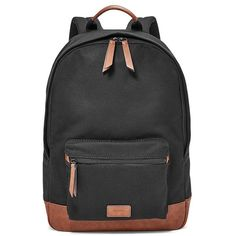Fossil Estate Backpack Mbg9218001 ($60) ❤ liked on Polyvore featuring men's fashion, men's bags, men's backpacks, mens laptop backpack and mens canvas backpack