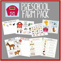 Free Preschool Farm Pack printable
