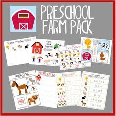 Free Preschool Farm Pack printable