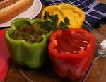 Serve Condiments In Bell Peppers - create condiment comments at your next party
