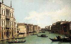 Canaletto, Venetië, het Canal Grande, Noord-Oostwaarts kijkend vanaf Palazzo Balbi tot de Rialtobrug, ca. 1724, olieverf op doek, 87 x 139 cm, privécollectie http://www.artsalonholland.nl/schilderkunst-barok/canaletto-venetie-canal-grande-noord-oostwaarts-kijkend