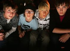 Chris, Sid, Maxxie, Tony - Skins - the first generation