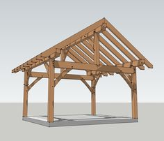 pavillion  plans 12' X 14' | 16×16 Timber Frame Plan