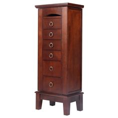 Jewelry Cabinet Armoire Box Storage Chest Stand Organizer Necklace