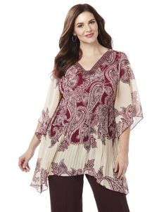 Paisley Angel Blouse | Catherines