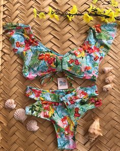 Buy High Waisted Swimsuit Two-Piece Bathing Suits Polka Dot Bikini Yellow Yellow Bikini, Polka Dot Bikini, Mini Bikini, The Bikini, Sexy Bikini, Swimwear Fashion, Bikini Fashion, Bikinis, Swimsuits
