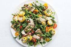 303 cal - Our vegetarian tofu, corn and asparagus salad is perfect for a quick lunch or light dinner. Vegetarian Nachos, Easy Vegetarian Dinner, Vegetarian Recipes, Dinner Bowls, Fish Dinner, Healthy Rice, Healthy Eating, Healthy Food, Clean Eating