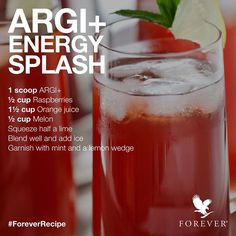 Great Energy booster recipe for you to enjoy our Argi+!! order your argi today at the following: www.thehealthieryou.flp.com