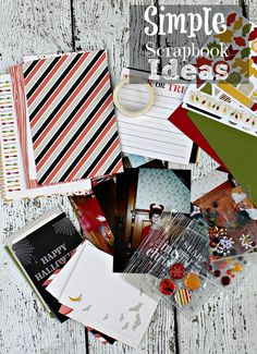 Simple Scrapbooking Ideas | Organizing Photos  ‪#‎ad‬ http://bit.ly/SimpleScrapbookIdeas   Right now, all of my photos are in a photo box. I'd like to say that they're organized nicely but they aren't. They're sort of grouped by child but not by occasion or year or any other useful way of organizing photos. I've wanted to organize their photos in a scrapbook for years but, let's be honest, I am not really good at big craft projects.