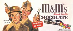m&m candy people | What do M&M'S have to do with the war? Quite a lot, as it turns out.