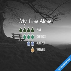 My Time Alone - Essential Oil Diffuser Blend - Pine, Cypress and Juniper oil blend. Take time to nou Essential Oils Room Spray, Pine Essential Oil, Essential Oil Perfume, Essential Oil Diffuser Blends, Doterra Essential Oils, Easential Oils, Young Living Oils, Aromatherapy Oils, Incense
