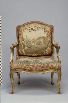 Armchair, Nicolas-Quinibert Foliot (French, 1706 - 1776); Paris, France; 1762; Beech; modern silk upholstery.