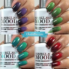 LeChat Perfect Match Mood Polish Swatches by Chickettes.com
