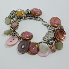 Bracelet with vintage buttons