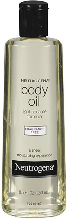 Started using this on my dry skin! Neutrogena Body Oil Light Sesame Formula Fragrance Free