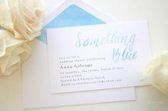 On Parade Designs Something Blue Bridal Shower Invitation