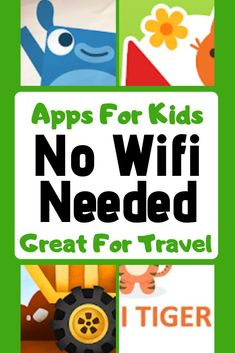 No Internet Needed Apps For Toddlers WIFI free games are perfect for travelling! Check out these WIFI free apps for kids the next time you go on a road trip or a long flight! No internet games mean everyone can be entertained on the w Toddler Travel, Toddler Fun, Travel With Kids, Toddler Activities, Free Toddler Apps, Flying With A Toddler, Toddler Games, Road Trip With Kids, Baby Games