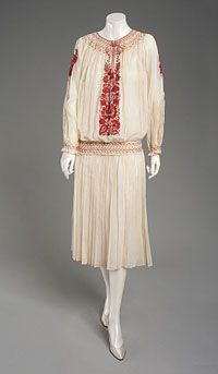 Woman's Overblouse 1922, Hungarian, Made of cotton and wool flannel