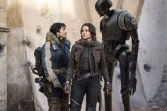 Captain Cassian Andor Jyn Erso and K2-SO