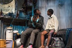 Tsotsi realises his own humanity when a mugging leaves him caring for someone else's baby.  Tsotsi is played by Mxolisi 'Zuluboy' Majoz.  Young David is played by Sibuyiselo 'Sbuja' Dywili.  Puppetry consultant Craig Leo and Puppet design by Janni Younge for the baby.