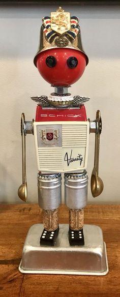 "Steampunk assemblage ""The Sharp soldier"" found object multi-element sculpture | eBay"