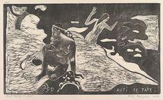 Auti Te Pape  Artist:Paul Gauguin (French, Paris 1848–1903 Atuona, Hiva Oa, Marquesas Islands ) Date:1893–94 Medium:Woodcut on china paper Dimensions:8 1/16 x 14 in. (20.5 x 35.6 cm): block 10 1/2 x 16 7/8 in. (26.7 x 42.9): paper
