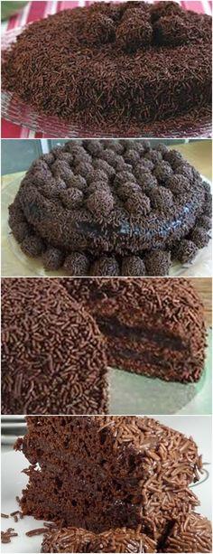 BOLO DE BRIGADEIRO , MARAVILHOSO !! VEJA AQUI >>>Misture as gemas com o açúcar até homogeneizar. Adicione o chocolate dissolvido na água e misture bem. Aos poucos, incorpore a farinha e o fermento. Por último, junte a clara em neve. #receita#bolo#torta#doce#sobremesa#aniversario#pudim#mousse#pave#Cheesecake#chocolate#confeitaria Y Food, Food And Drink, Cooking Time, Cooking Recipes, Mini Cheesecakes, Sweet Treats, Healthy Living, Sweets, Baking