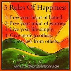5 Rules of Happiness