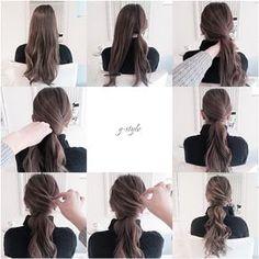 Wedding hairstyles ponytail tutorial new ideas Messy Hairstyles, Pretty Hairstyles, Wedding Hairstyles, Wedding Updo, Hairstyle Ideas, Coiffure Hair, Ponytail Tutorial, Twist Ponytail, Low Ponytails