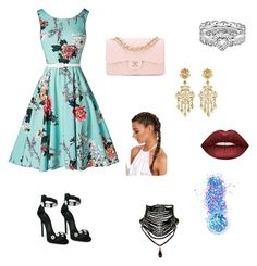 """""""Untitled #7"""" by caca-saraiva-neri ❤ liked on Polyvore featuring Giuseppe Zanotti, Chanel, Jose & Maria Barrera, Stacks and Stones, Lime Crime and In Your Dreams"""