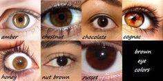 brown eye color chart